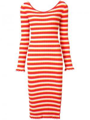 Платье в полоску Altuzarra. Цвет: красный