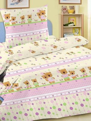 Комплект в кроватку Letto Ясли BGR-14, простыня на резинке, бязь. Цвет: розовый