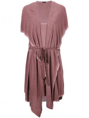 Платье с капюшоном и жилеткой Unconditional. Цвет: розовый и фиолетовый