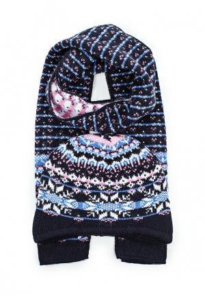 Комплект шапка и шарф Ferz. Цвет: разноцветный