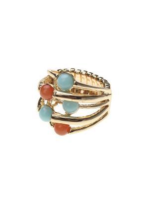 Кольцо Olere. Цвет: голубой, оранжевый, золотистый
