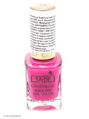 Быстросохнущий лак для ногтей Crystallic Quick Dry, тон 30 GA-DE. Цвет: фуксия