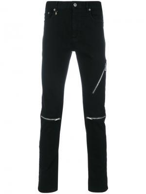 Джинсы с молниями Marc Jacobs. Цвет: чёрный