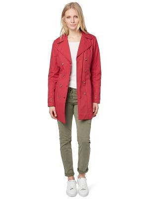 Пальто TOM TAILOR. Цвет: красный