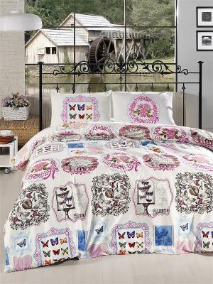 Комплект постельного белья ALTINBASAK. Цвет: розовый, белый