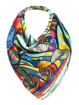 Платок Rob-art by Katya Rozhdestvenskaya. Цвет: бирюзовый, розовый