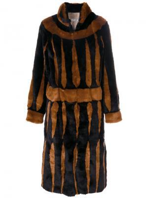 Длинное пальто с узором Attico. Цвет: чёрный