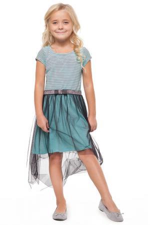 Платье VILATTE. Цвет: голубой, черный