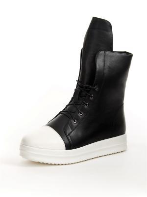 Ботинки Best&Best. Цвет: черный, белый