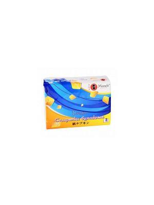 Салфетки бумажные в мягкой пачке, серия Kabi, класс Премиум,  2 слоя, 150 шт./упаковка Maneki. Цвет: белый