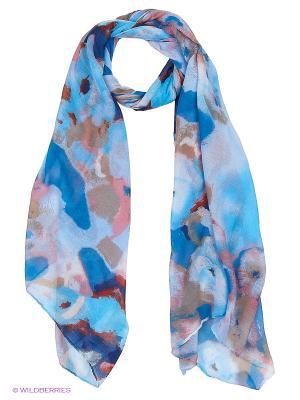 Палантин FOMAS. Цвет: синий, голубой, терракотовый