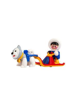 Набор игрушек Полярные сани Tolo. Цвет: синий