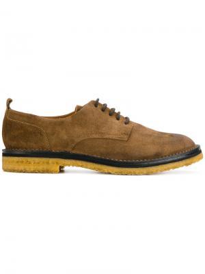 Классические туфли на шнуровке Buttero. Цвет: телесный