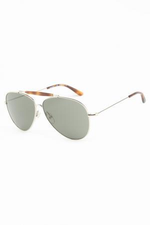 Очки солнцезащитные Valentino. Цвет: серебристый