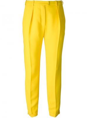 Зауженные брюки Carven. Цвет: жёлтый и оранжевый
