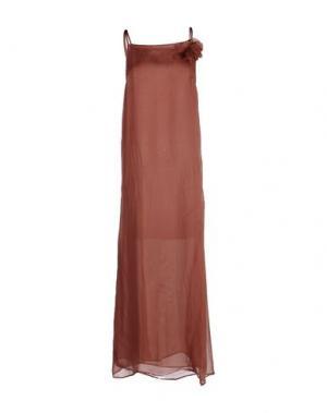 Платье длиной 3/4 ZHELDA. Цвет: пастельно-розовый