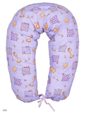 Подушка для беременных и кормящих ФЭСТ. Цвет: фиолетовый, бежевый