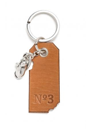 Брелок 164903 Numero 3. Цвет: коричневый