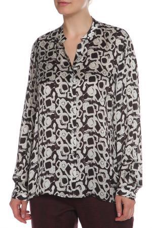 Блуза Krizia. Цвет: серый, черный, принт