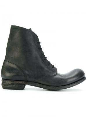 Ботинки на шнуровке A Diciannoveventitre. Цвет: чёрный