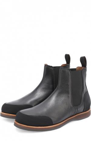 Кожаные челси с резиновым мысом и задником Zonkey Boot. Цвет: черный