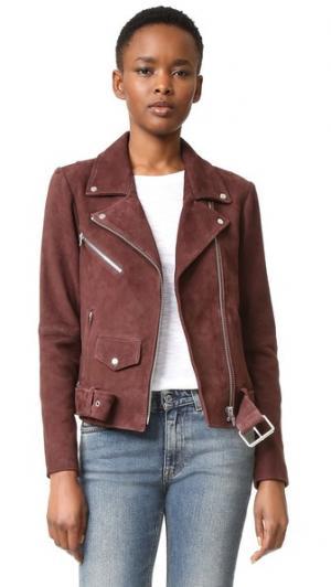 Классическая замшевая куртка Jayne VEDA. Цвет: темный изюм