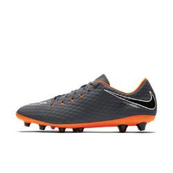 Футбольные бутсы для игры на искусственном газоне  Hypervenom Phantom III Academy AG-PRO Nike. Цвет: серый