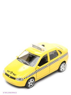 Машина Технопарк. Цвет: желтый, красный
