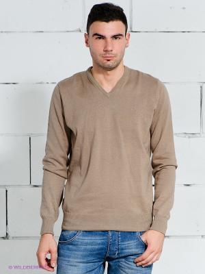 Пуловер Wrangler. Цвет: серо-коричневый
