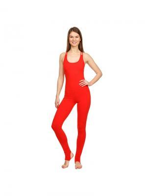 Комбинезон Red Urban Yoga. Цвет: красный