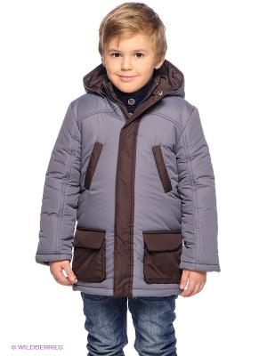 Куртка ЕМАЕ. Цвет: серый, коричневый
