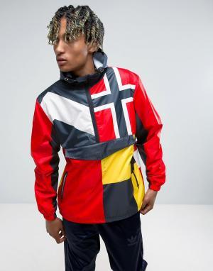 10 Deep Спортивная куртка без застежки 10.Deep Victory. Цвет: темно-синий