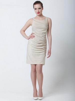 Платье Quattro. Цвет: светло-бежевый