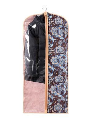 Чехол для одежды большой 60х130см Прованс 1302 COFRET. Цвет: бежевый, коричневый, голубой