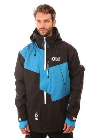 Куртка утепленная  Oscar Black Picture Organic. Цвет: черный,голубой