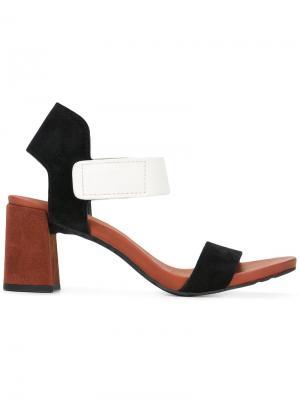 Босоножки на толстом каблуке Pedro Garcia. Цвет: чёрный