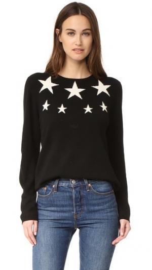 Кашемировый свитер с изображением звезд Chinti and Parker. Цвет: черный/кремовый