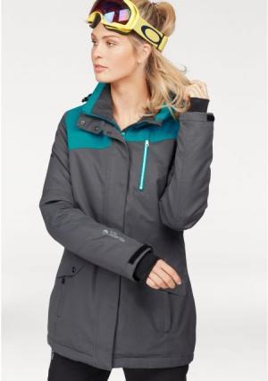 Горнолыжная куртка POLARINO. Цвет: серый/зелено-синий