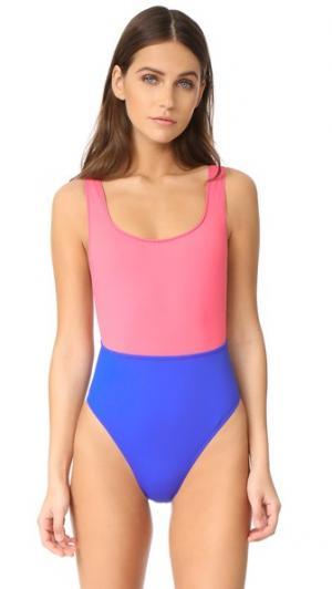 Сплошной купальник Nyx KORE SWIM. Цвет: ярко-розовый/кобальтовый