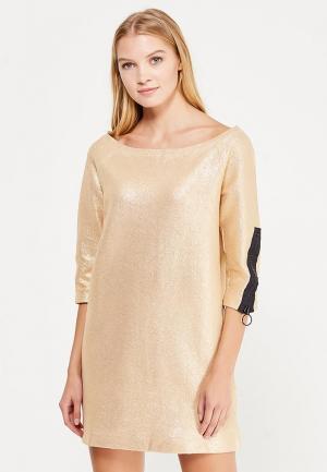 Платье Sisley. Цвет: золотой
