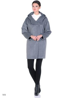 Пальто SHARTREZ. Цвет: серый