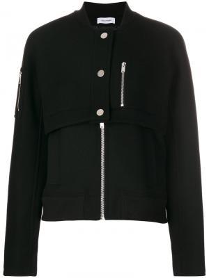 Куртка на молнии Courrèges. Цвет: чёрный