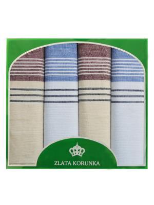Платок носовой ZLATA KORUNKA. Цвет: серо-голубой