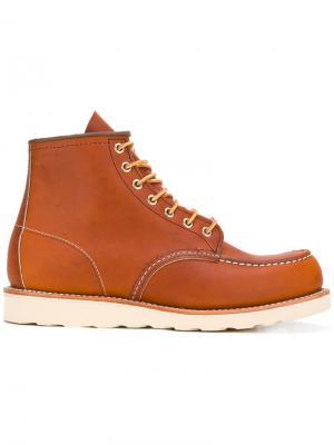 Сапоги с простроченной отделкой Red Wing Shoes. Цвет: коричневый