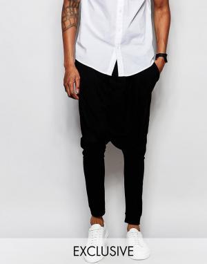 Unplugged Museum Спортивные штаны с заниженным шаговым швом. Цвет: черный