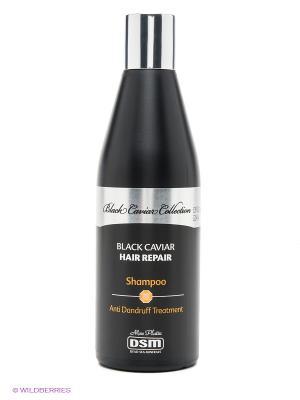 Восстанавливающий шампунь от перхоти Black Caviar Collection, 400 мл Mon Platin DSM. Цвет: черный