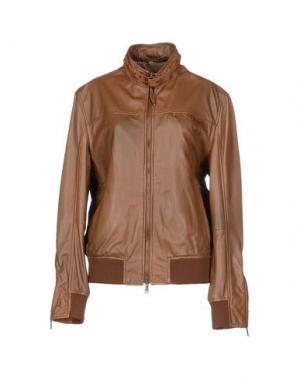 Куртка COMPAGNIA DELLE PELLI. Цвет: коричневый
