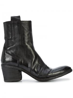 Ботинки с декоративной строчкой Fauzian Jeunesse. Цвет: чёрный