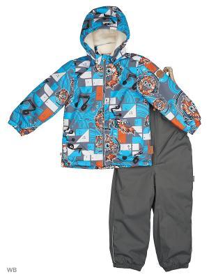 Комплект для мальчиков CARLO HUPPA. Цвет: серый, голубой