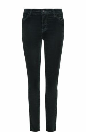 Бархатные джинсы-скинни J Brand. Цвет: темно-зеленый